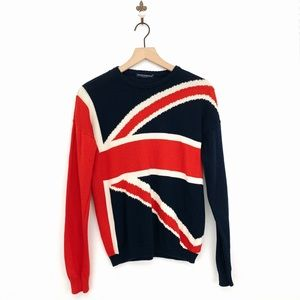 Brandy Mellville UK England Flag Sweater One Size